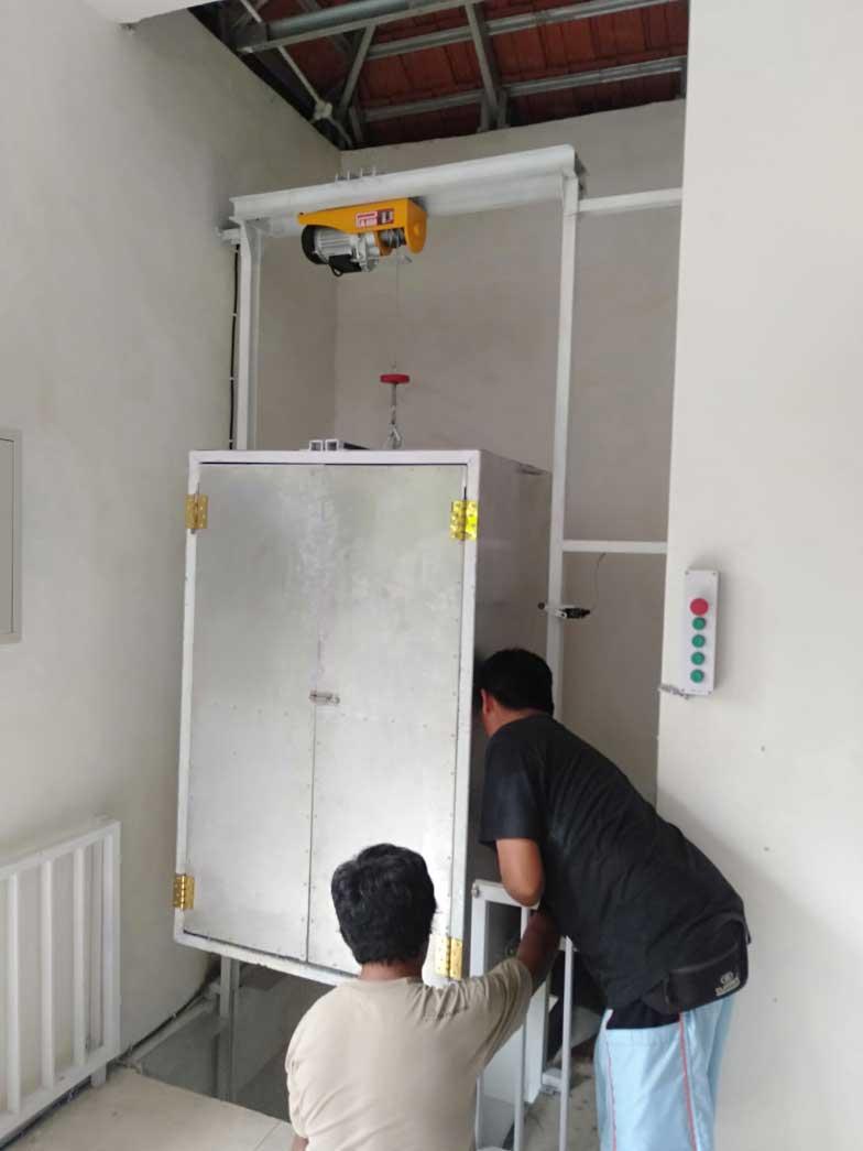 Jasa Pembuatan Lift Barang di Aura Organik Tabanan Bali 1